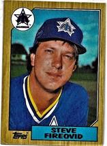 1987 Topps Baseball Card, #357, Steve Fireovid, Seattle Mariners, Rookie - $0.99