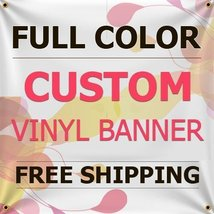 NEW 8'x19' Custom Full Color Vinyl Banners Indoor/Outdoor Personalized Banners w - $275.52
