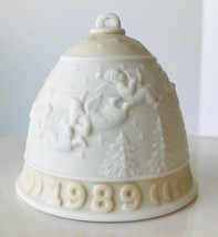 1989 Lladro Christmas Bell Ornament Yellow Angels in the Sky Porcelain No Box - $12.59