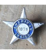 American Legion white star shaped lapel pin 1976 - $2.99
