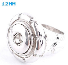 Silver Ring Size 8 For 12mm Mini Petite Snap Charm For Ginger Snaps Jewe... - $12.82
