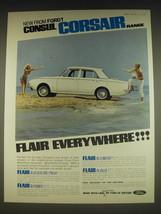 1963 Ford Consul Corsair Ad - Consul Corsair range Flair Everywhere - $14.99