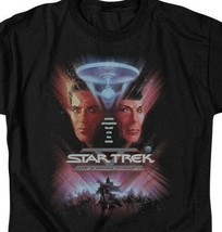 Star Trek The Final Frontier Retro 80s Sci-Fi Kirk  Spock graphic tee CBS523 image 2