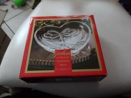 "Gorham Crystal "" Christmas Cardinal ""  Holiday 7"" Heart Candy Dish NEW - $12.00"
