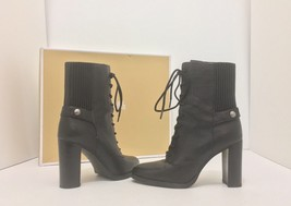 Michael Kors Carrigan Bootie Black Tumbled Leather Women's Short Boots S... - $101.03