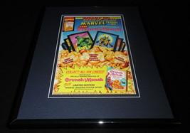 1993 Marvel / Crunch N Munch Framed 11x14 ORIGINAL Advertisement Spiderman Hulk - $34.64