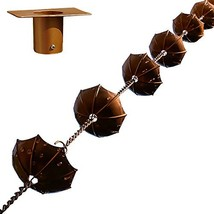 "68"" Decorative Iron Umbrella Rain Chain With Bonus Adapter Installer Piece - $37.61"
