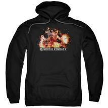 Mortal Kombat X - Scorpio Flames Adult Pull Over Hoodie Officially Licen... - $34.99+