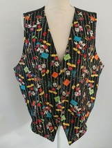 VTG 1980s 90s Disney Womens Plus Size Vest 22W Mickey Unlimited Minnie Mouse - $48.30