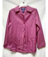 Denim & Co X-small Small Denim Violet Purple Long Jacket Blazer Coat Wid... - $44.54