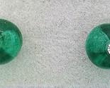 Dark green glass crystal 6mm stud earring thumb155 crop