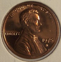 1975-S Cameo Proof Lincoln Penny PF65 #0227 - $2.79