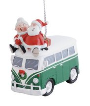 Cape Shore Santa and Mrs. Claus Riding on Top of Vw Bus Christmas Holida... - $10.84