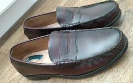 EUC mens NUNN BUSH size 9.5 W Penny Loafer slide on leather Burgundy color  - $23.94 CAD