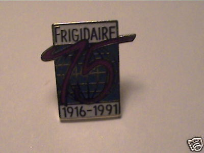 Frigidaire 75th anniversary COLLECT,VTG,CO.1916-1991 promo advertising rare PIN