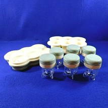 6 Baby Bullet Food Storage Replacement Jars Tray Date Dial Silicone Free... - $12.50