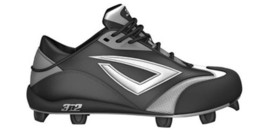 3N2 Accelerate TPU Fastpitch Cleats Black/ Silver Size 8.5 M US - $44.55