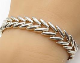925 Sterling Silver - Vintage Olive Leaf Inspired Chain Bracelet - B2950 - $86.50
