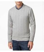 John Ashford Sweater Sz XL Light Grey Heather Cotton V-Neck Casual Pullo... - €21,75 EUR