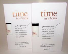 2 x Philosophy Time in a Bottle Daily Age Defying Serum Travel Size pump... - $8.99