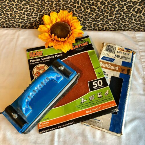 Primary image for NORTONHand Held Sander With Leftover Sandpaper Sheets Bundle