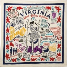 Virginia State Landmarks Kitchen Dish Towel Primitives by Kathy - €13,11 EUR