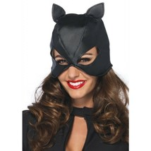 LA-2625 Sexy Black Faux Leather Cat Mask Super Hero Woman Halloween Costume  - $12.95