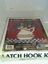 "National Yarn Crafts Latch Hook Kit P463 Victorian Flowers 12"" x 12""  1988 - $24.20"