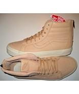 Vans Sk8-Hi Reissue Zipper Mens Veggie Tan Leather Skate shoes Size 10 NWT - $47.51