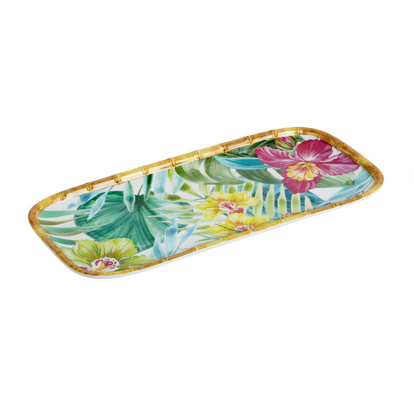 "Maui Melamine Serving Platter Tray 6.75""x14.75"" Coastal Living Beach House"