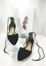 Jessica Simpson Zofie Suede Lace Up D'Orsay Flats Women's Size 8M Black  - $13.98