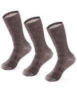 MERIWOOL 3 Pairs Merino Wool Blend Socks - Choose (Large|Style KL Brown ... - $28.16