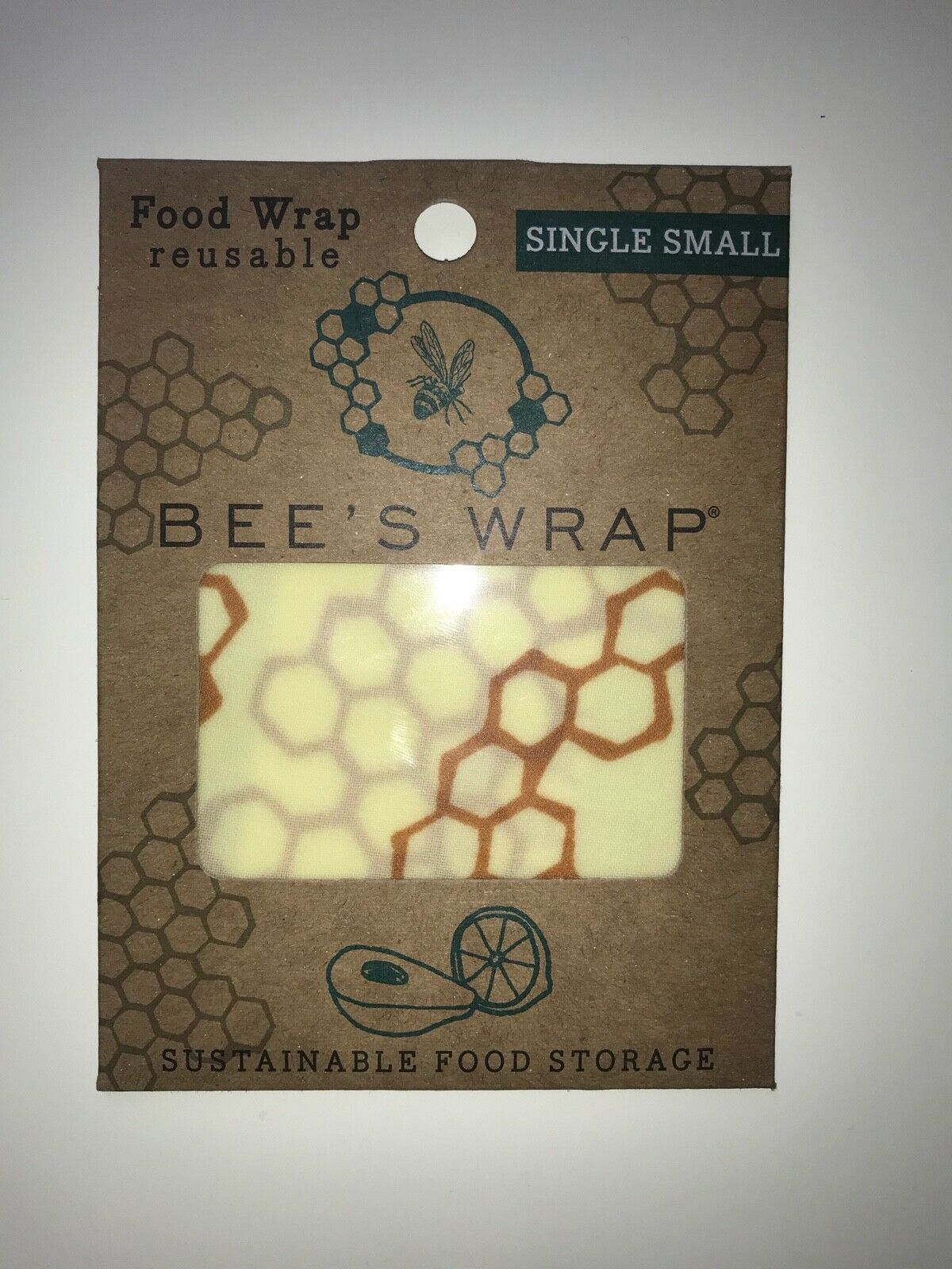 Primary image for Bee's Wrap Bee's Wrap Single Small Reusable Sustainable Food Wrap Storage
