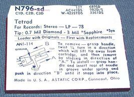 N796-sd STEREO RECORD NEEDLE for Tetrad C1D Tetrad C2D Tetrad C3D M853-DS73 image 3