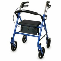 McKesson 4 Wheel Rollator Folding Steel Frame, Blue, 300 lbs, 146-10257B... - $75.19