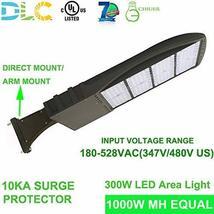 300W High Voltage 347v 480v LED Shoebox Area Light Parking Lot Lighting Street L - $355.00