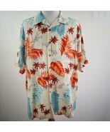 Caribbean Hawaiian Aloha Silk Shirt Mens Sz 2XB - $28.93