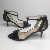 Nine West Gillan Black T-Strap Kitten Heels Sandals Size 9M Holiday Part... - €43,52 EUR