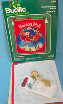 "Bucilla Christmas Holiday Heirloom Jeweled Stitchery Mailbag Craft Kit 16""X20"" - $12.99"
