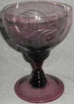 Waterford Crystal Great Room - Jasmine Pearl Pattern Amethyst Water Goblet - $39.59