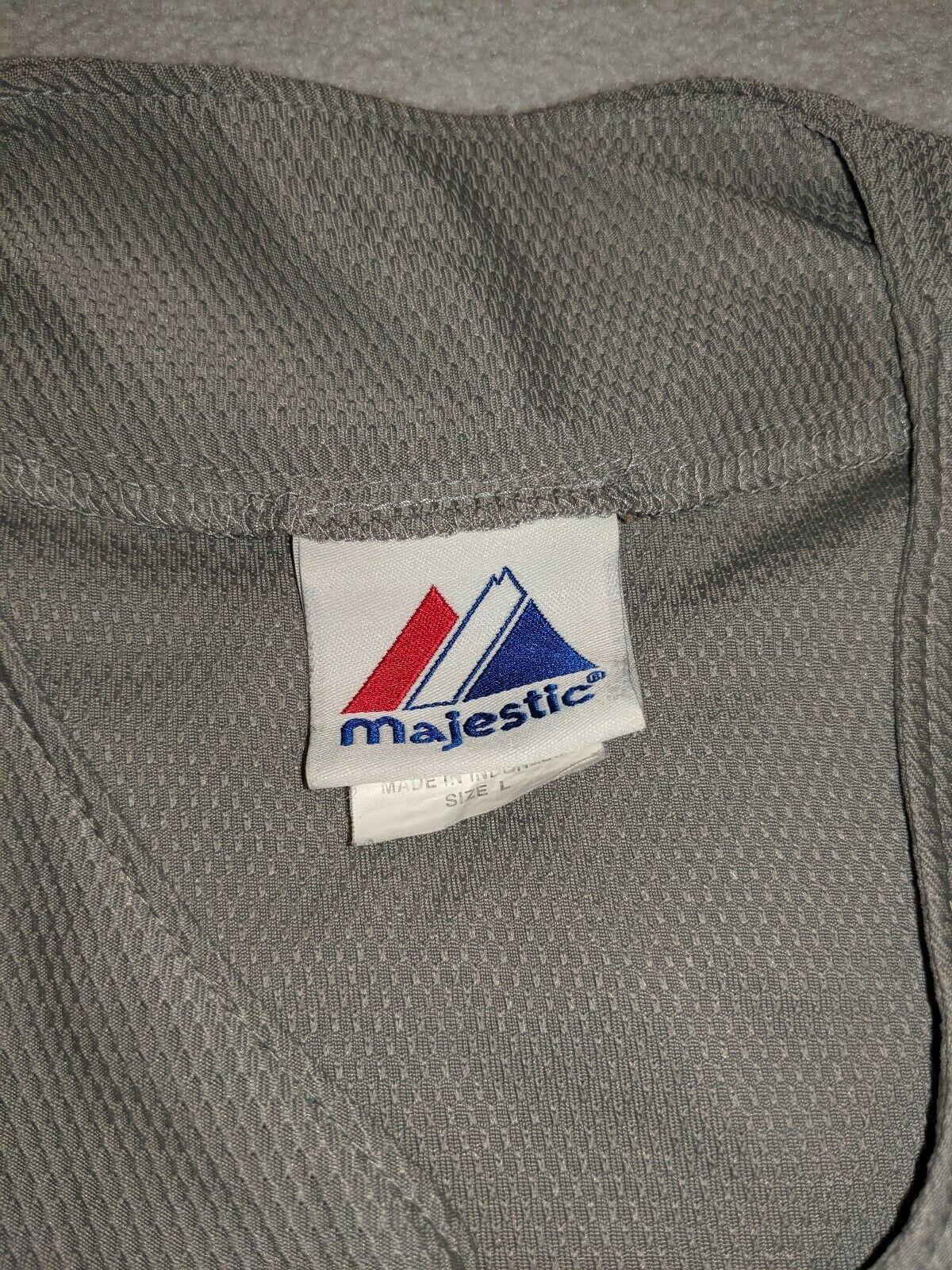 90s Majestic MLB New York NY Yankees Grey Baseball Jersey Blank size L VINTAGE