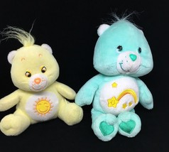 "Care Bear Baby 2002 Wish 8"" Beanie +  Sunshine Funshine Plush Stuffed An... - $9.50"