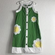 Gymboree Girls Size 12  Sleeveless Green Dress With Yellow Flowers - $9.74