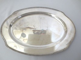 "Vtg Wm Rogers International Silver silverplate Small meat tray 16.5"" Kent - $40.00"