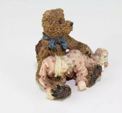 1995 Boyds Bear Yesterdays Child Shelby Asleep In Teddy's Arms Edmund Bear image 3