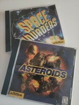 Space Invaders / Asteroids Pc/Activision Computer Games Lot/ Bundle 1998/99 - $22.77