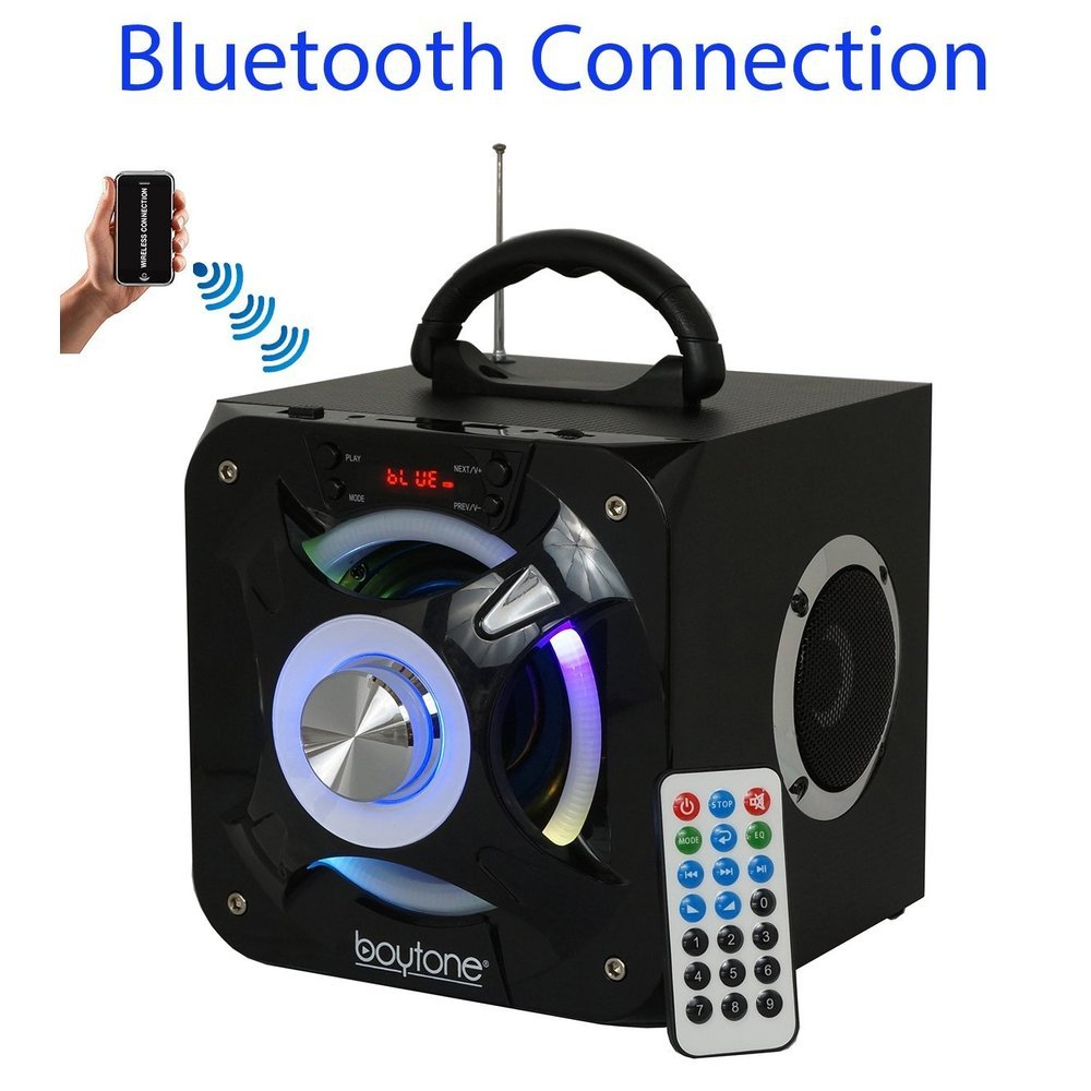 Boytone BT-32D Portable Bluetooth FM Radio Stereo speaker System, USB Port | SD