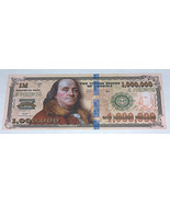 1 ONE MILLION DOLLAR BILL Living Waters Tract Ben Franklin Series 2015 G... - $9.08