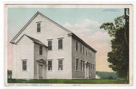 Oldest Church in Vermont Rockingham VT 1924 postcard - $6.44