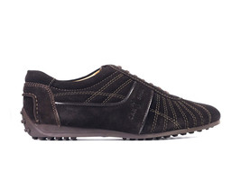 Car Shoe By Prada Women's Brown Web Stitched Suede Sneakers IT36/US6~RTL... - $180.50